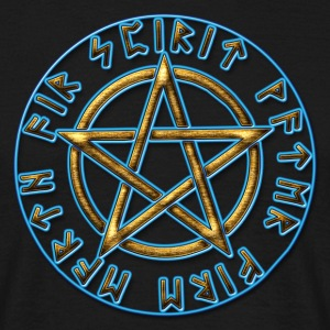 Runes pentagram, pentacle, protection, Talisman Bags & backpacks - Men's T-Shirt
