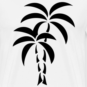 Palm Tree / Tattoo Style / Vector / Sweaters - Mannen Premium T-shirt