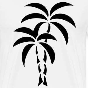 Palm Tree / Tattoo Style / Vector / Sudadera - Camiseta premium hombre