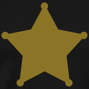 Sheriff Star, Old West, Wild, American, Badge T-shirts - Premium-T-shirt herr
