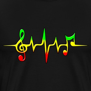 Reggae, music, notes, pulse, frequency, Rastafari T-Shirts - Men's Premium T-Shirt