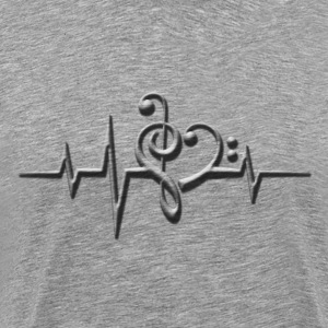 Music, pulse, sheet, classical, dance, rock, note T-Shirts - Men's Premium T-Shirt
