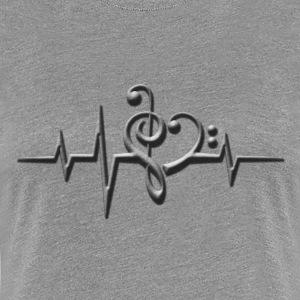 Music, pulse, sheet, classical, dance, rock, note T-shirts - Dame premium T-shirt
