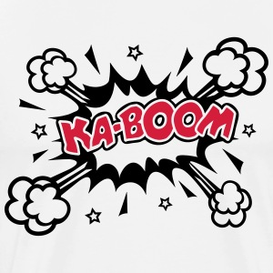 KABOOM, comic speech bubble, cartoon, word balloon Bluzy - Koszulka męska Premium