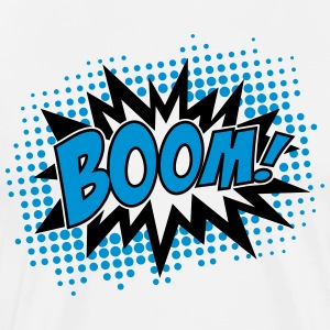 BOOM, comic, speech bubble, cartoon, balloon, dots Hoodies & Sweatshirts - Men's Premium T-Shirt