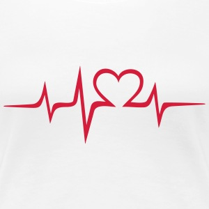 Heart rate music Dub Techno House Dance Electro Tröjor - Premium-T-shirt dam
