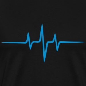Music Heart rate Dub Techno House Dance Electro Tröjor - Premium-T-shirt herr