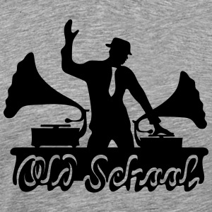 DJ Old School, Gramophone, swing, music, dance Sweaters - Mannen Premium T-shirt