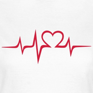 Heart rate music Dub Techno House Dance Electro Sweat-shirts - T-shirt Femme