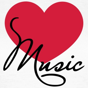 Heart I love music like classical choir band clef Bluzy - Koszulka damska