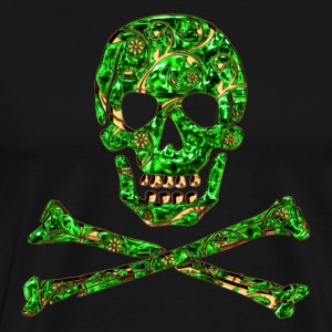 Skull, Emerald, pirate, digital, Crystal Skull Sweaters - Mannen Premium T-shirt
