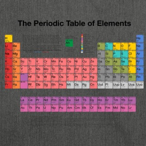 Periodic Table of Elements (PTE) dark Bags & Backpacks - Shoulder Bag made from recycled material