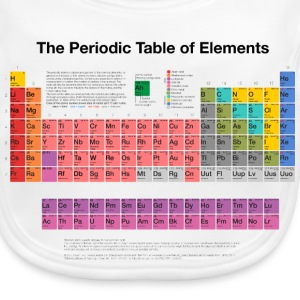 Periodic Table of Elements (PTE) dark Accessories - Baby Organic Bib