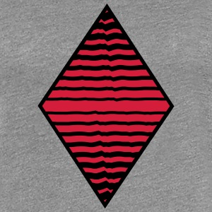 Rhombus form strokes pattern many lines T-Shirts - Women's Premium T-Shirt
