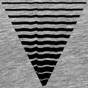 Lines many strokes triangle shape pattern T-Shirts - Men's Premium T-Shirt