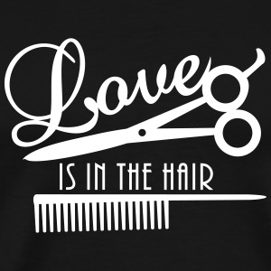 love is in the hair (d, 1c) T-Shirts - Männer Premium T-Shirt