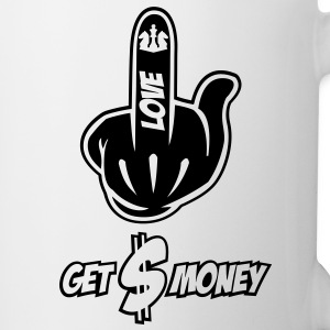 Fuck Love Get Money Mickey Hand - Tasse