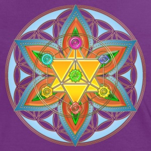 Flower of Life, Merkaba, Chakras, Metatron T-Shirts - Frauen Kontrast-T-Shirt