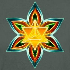 Flower of Life, Merkaba, Spiritual Symbol, Light T-shirts - Organic damer