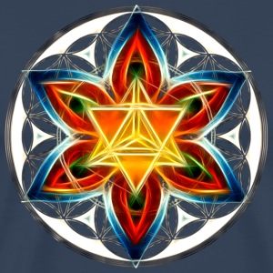 Merkabah, Flower of Life, Sacred Geometry T-Shirts - Men's Premium T-Shirt