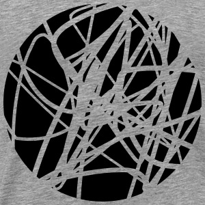 Scribbled chaotic strokes pattern T-Shirts - Men's Premium T-Shirt