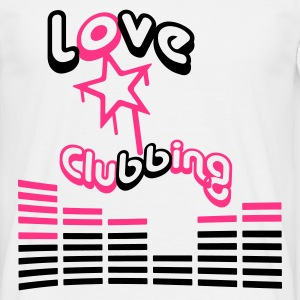 I love clubbing I Heart Lieben Party DJ - T-skjorte for menn