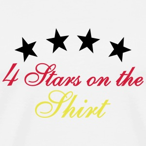 4 Stars On The Shirt 3C T-Shirts - Männer Premium T-Shirt