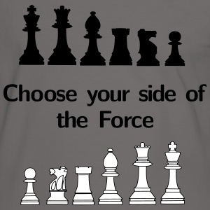 Choose your side of the Force T-shirts - Mannen contrastshirt