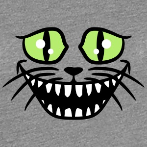 Crazy Funny Cheshire Cat Laughs T-Shirts - Women's Premium T-Shirt