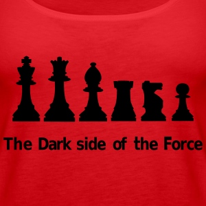 The Dark Side of the Force Topit - Naisten premium hihaton toppi