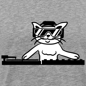 Cool deejay de musique chat DJ party Club Tee shirts - T-shirt Premium Homme