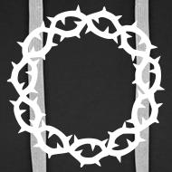 Motiv ~ Kapuzenpulli Dornenkrone weiß (Farbwahl)