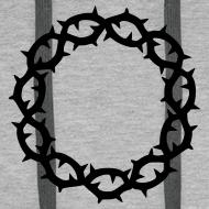Motiv ~ Kapuzenpulli Dornenkrone schwarz (Farbwahl)