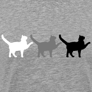 3 detailed ongoing strutting cats T-Shirts - Men's Premium T-Shirt