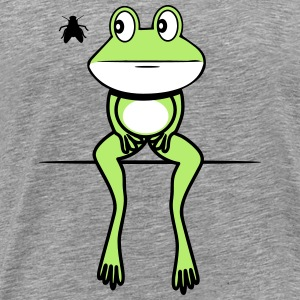 Frog funny fly sit T-Shirts - Men's Premium T-Shirt
