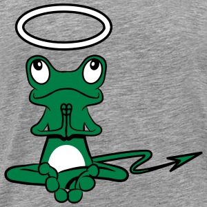 Frog Angel Devil Halo Devil tail T-Shirts - Men's Premium T-Shirt