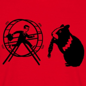 HamHam out of the hamster wheel :) - Camiseta hombre
