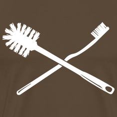 Toothbrush and toilet brush T-Shirts