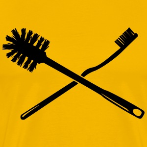 Toothbrush and toilet brush T-Shirts - Men's Premium T-Shirt