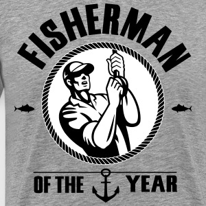 Fisherman of the year T-shirts - Mannen Premium T-shirt