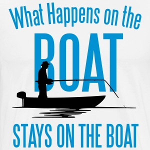 Fishing: What happens on the boat... T-shirts - Premium-T-shirt herr