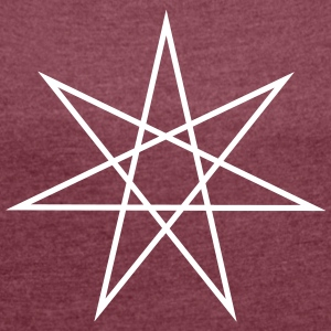 Elven Star, Heptagram, Fairy Star, Pagan, Wicca T-Shirts - Women's T-shirt with rolled up sleeves
