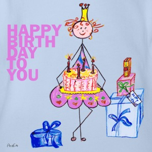 Birthday Princess Shirts - Organic Short-sleeved Baby Bodysuit