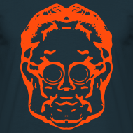 Design ~ Weldroid - Protozorq T-Shirt (Navy/Furnace Red)