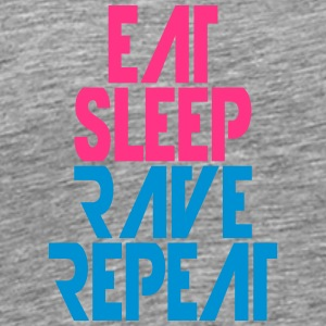 Party Logo Eat Sleep Repeat Rave T-shirts - Mannen Premium T-shirt