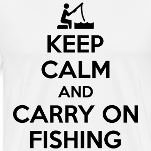 Keep calm and carry on fishing T-skjorter - Premium T-skjorte for menn