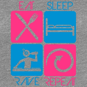 Party DJ Logo Design Eat Sleep Repeat Rave T-Shirts - Women's Premium T-Shirt