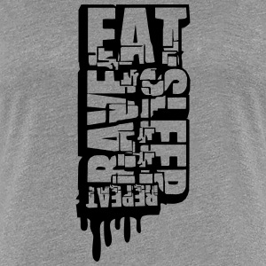 Eat Sleep Rave Repeat Cool Graffiti Design T-Shirts - Women's Premium T-Shirt
