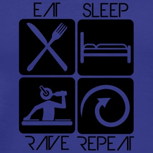Party DJ Logo Design Eat Sleep Repeat Rave T-Shirts - Men's Premium T-Shirt