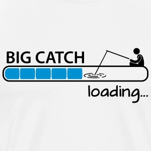Fishing: big catch loading T-shirts - Mannen Premium T-shirt